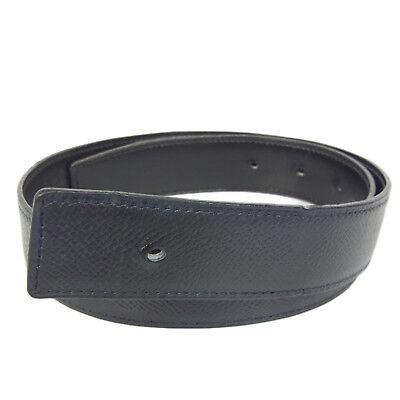 Auth HERMES Courchevel Box Calf Leather Reversible Belt F/S 1232 (Hermes Gürtel Box)