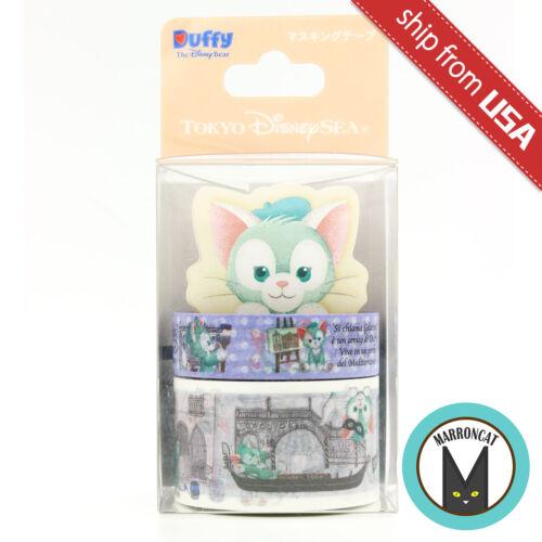 Japan Tokyo Disney Sea Exclusive Gelatoni Cat Deco Washi Tape Memo Pad Cute Rare