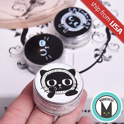 Lot 4 Black Cat Soft Foam Ear Plugs Sleep Noise Earplug Cute Kawaii Trinket Box