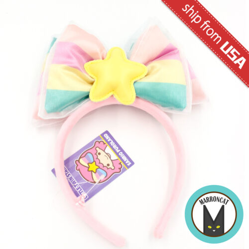 Japan Sanrio Puroland Exclusive Little Twin Stars Plush Cosplay Headband Bow Tie