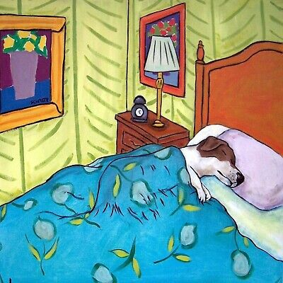 jack russell terrier nap dog animal art tile picture    for sale  Shipping to Canada