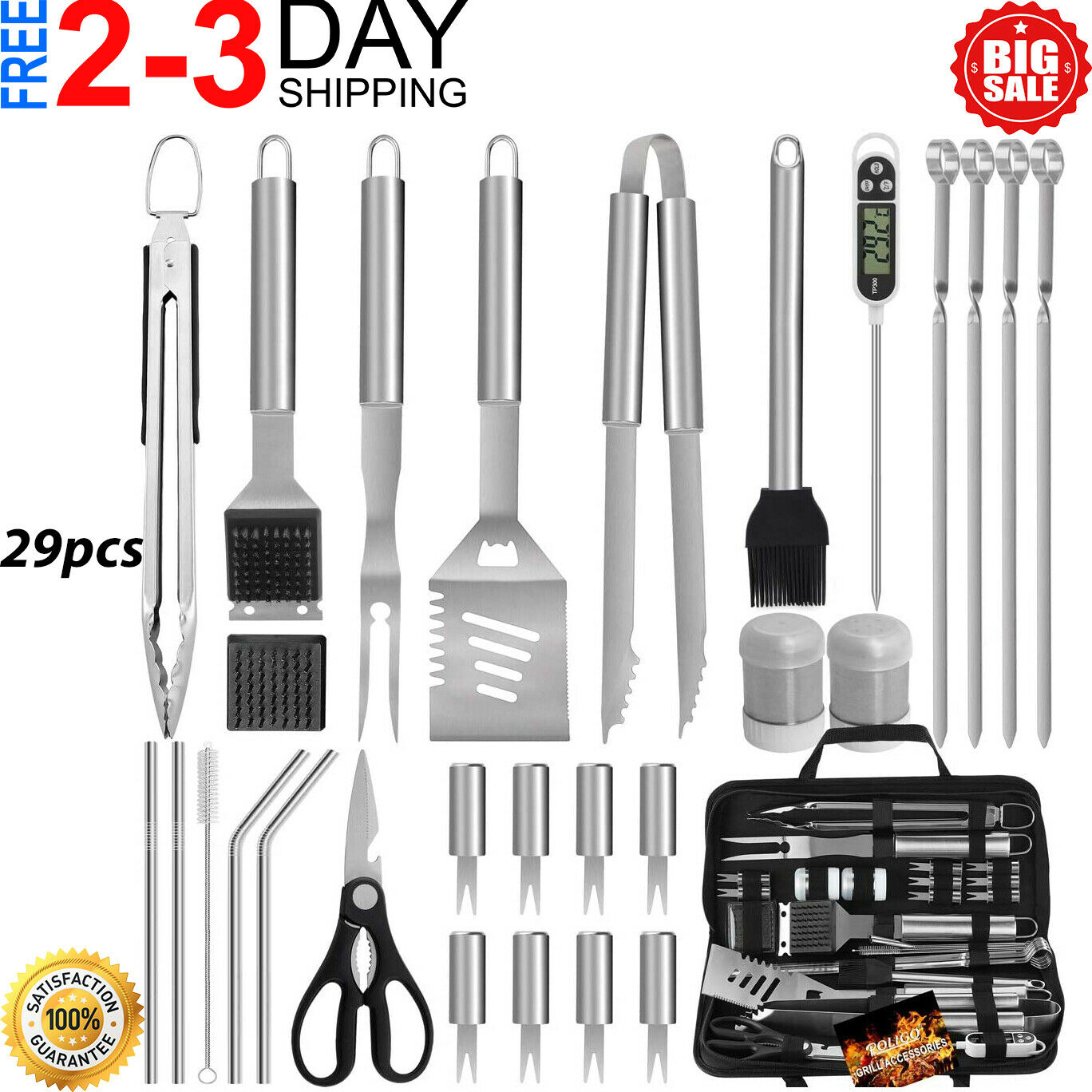 Blackstone Grill Accessories Kit, 29PCS Griddle Barbecue Too