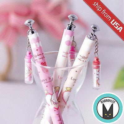 Cute Mechanical Pencils (US 3pcs Kawaii Fun 0.5mm Mechanical pencils Miffy Korean cute dangle charm)