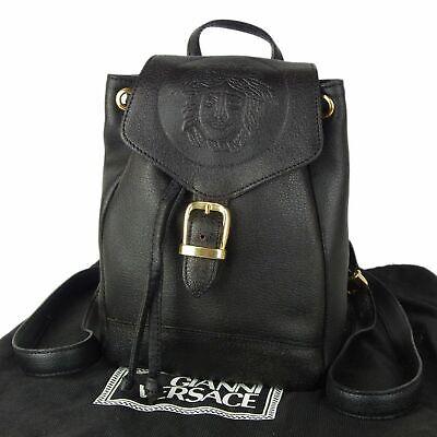 Sale! GIANNI VERSACE Vintage Medusa Leather Mini Backpack Bag Italy 10758bkac