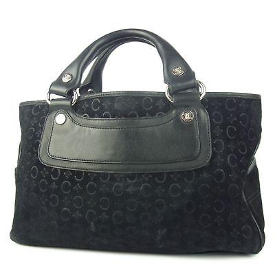 Auth CELINE C Macadam Boogie Bag Leather Hand Bag F/S 473i