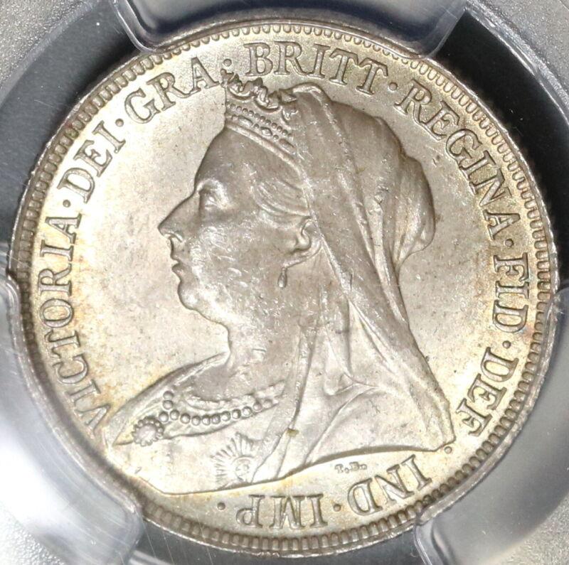 1899 PCGS MS 64 Victoria Shilling Great Britain Silver Coin (19101201C)
