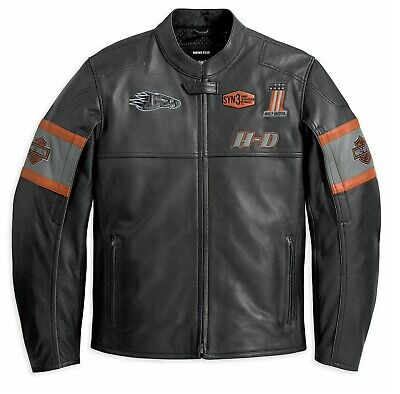 Men's Harley Davidson Screaming Eagle Cowhide Leather Jacket Motorbike Jacket