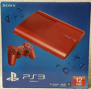 Sony PlayStation 3 Console - Red - + Grand Theft Auto Game FREE Quakers Hill Blacktown Area Preview