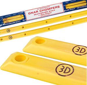 3d rails gnar chompers skateboard rails yellow slide rials. Black Bedroom Furniture Sets. Home Design Ideas