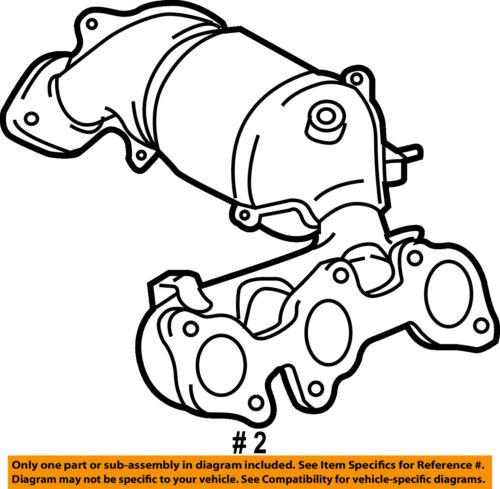Toyota Oem 08 10 Highlander Exhaust Manifold 2505220240