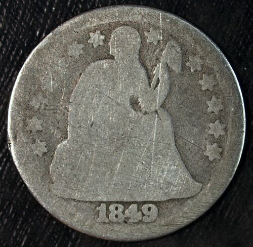 1849 P Seated Liberty Silver Dime ☆☆ Circulated ☆☆ Great For Type Sets ☆☆ 113