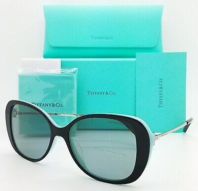 NEW Tiffany & Co. Sunglasses TF4156F 8055/1 55mm Black Blue Silver Grey (Free Shipping Tiffany)