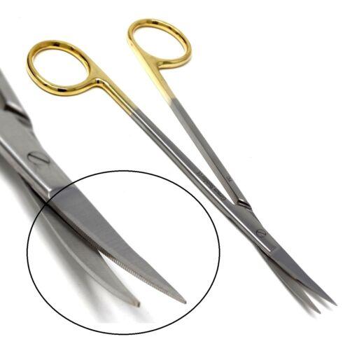 "T/C SuperCut ONE Serrated Blade Iris Gum DENTAL Dissecting Scissors Curved 6.25"""