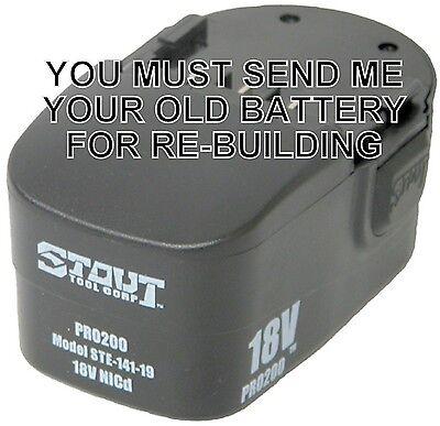 Rebuild Service For Stout Ste-141-19 Ni Cad 18-volt