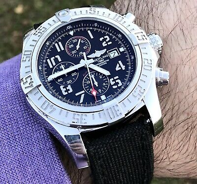 100% Authentic Breitling Super Avenger II Chronograph Men's Watch A1337111/BC28