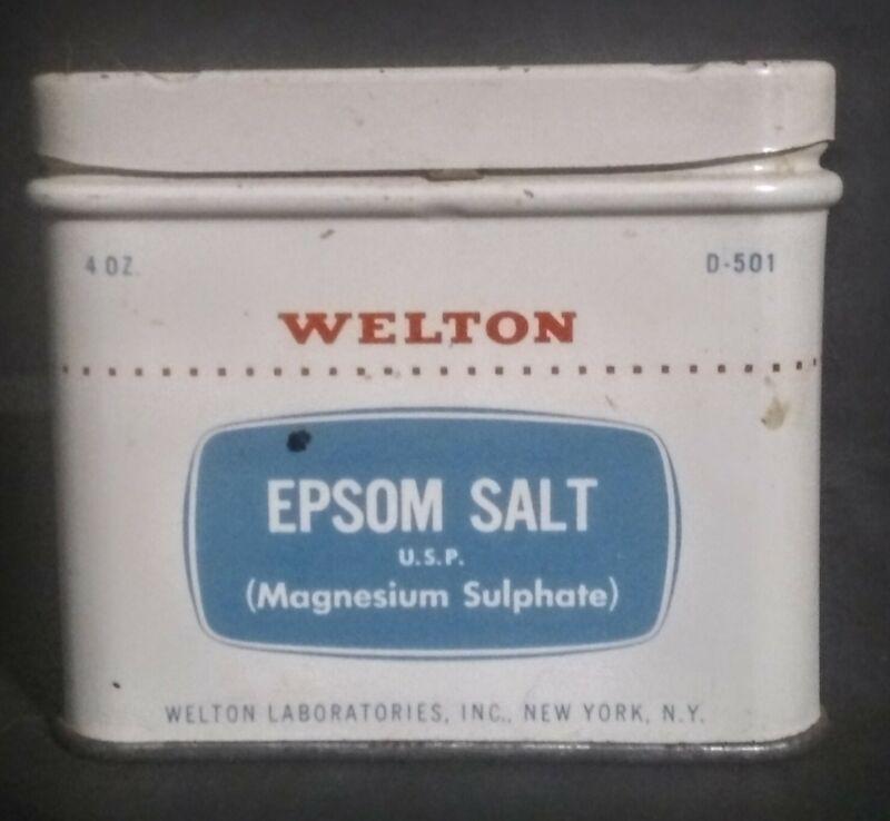 Vintage Welton Epsom Salt Advertising Tin