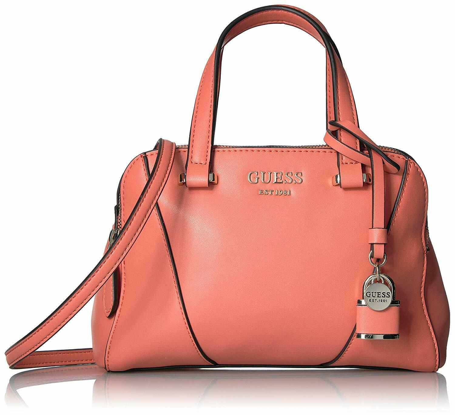 GUESS Shawna Cali Satchel - Coral Style: VG719005 MSRP $115