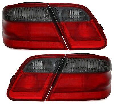 Rückleuchten Set für MERCEDES E-KLASSE W210 Limo in Rot Schwarz Heckleuchten