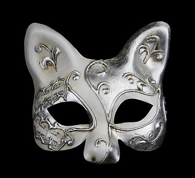 Mask from Venice Silver Luxury Cat Gatto Iceland Musica Fancy Dress Prom 22496