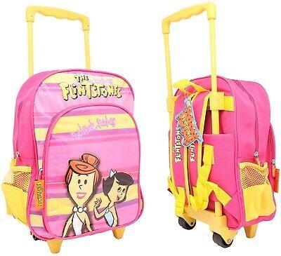 Zaino trolley scuola Flintstones con ruote e maniglia regolabile