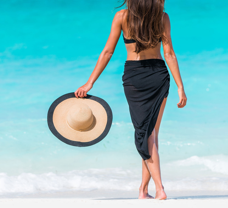 Coqueta Damen Sarong Bedecken Pereo Bademode Badeanzug Resort Strand Mode Neu