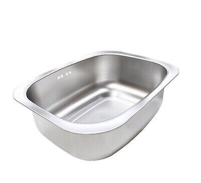 Silicook Stainless Steel Basin Dishpan Dish Washing Bowl Bucket Basket Tub