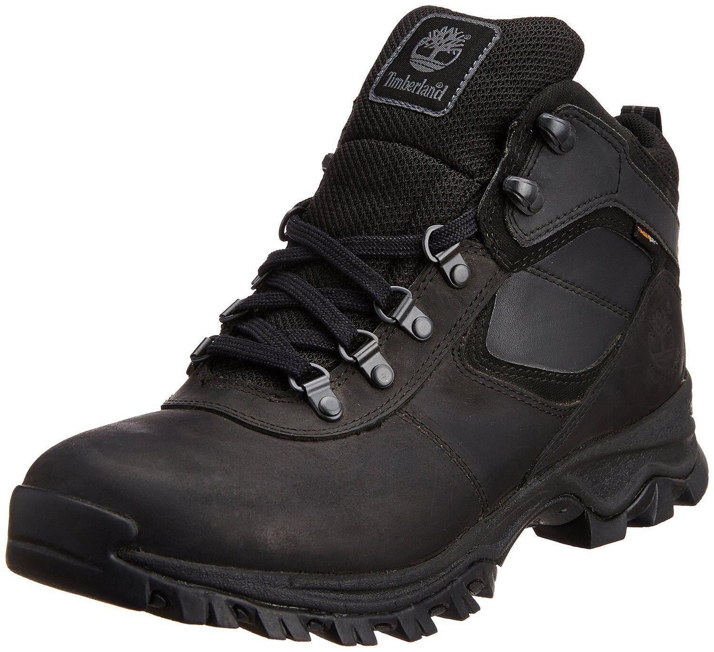 Men's Timberland Mt. Maddsen Mid Waterproof Hiking Boot Black 2731R Wide Width
