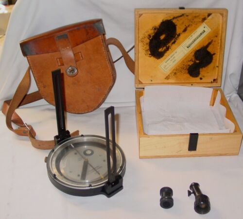 Warren Knight Sipe Sumner Surveying/Forestry Compass w/Tripod & Leather Case
