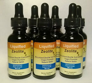 Liquified Liquid Zeolite Vegan Natural Detox 1 Oz ( Single Bottle )