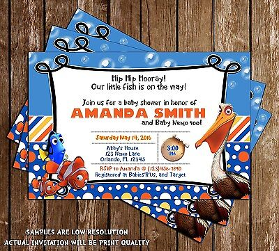 Finding Nemo - Baby Shower - Shower Invitations - 15 Printed W/envelopes](Finding Nemo Baby Shower)