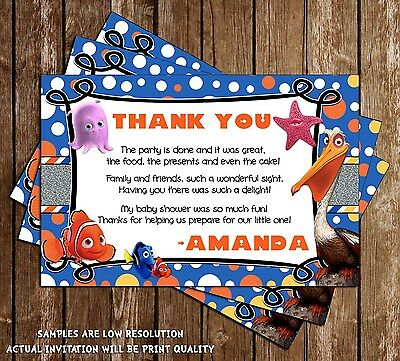 Finding Nemo - Baby Shower - Thank You Cards - 15 Printed W/envelopes](Finding Nemo Baby Shower)