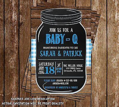 Baby-Q - BBQ - Baby Shower - Invitations - 15 Printed W/envelopes - Baby Q Invitations