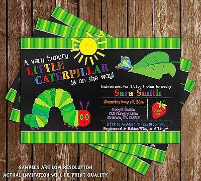 Very Hungry Caterpillar Baby Shower Invitations - 15 Printed W/envelopes (Hungry Caterpillar Baby Shower)