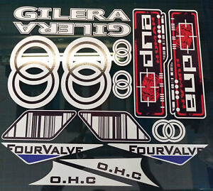 Gilera DNA Decals/Stickers Red/Black/White Barcode rep