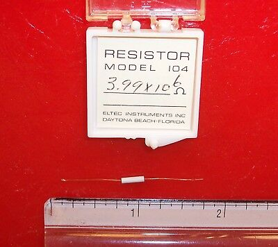 Qty 1 Eltec Model 104 High Megohm Tubular Resistor 3.99x106