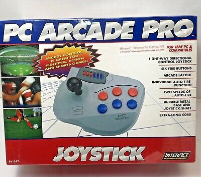 PC Arcade Pro Joystick Game Interact SV-247 Windows 95 Compatible Fire Buttons