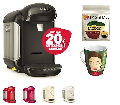 TASSIMO VIVY 2 + 20EUR Gutschein* + Ritzenhoff Becher + TDISC Kaffeemaschine  Tassimo-maschine