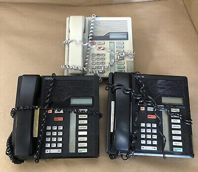 Lot Of 3 Norstar Nortel Northern Telecom M7208 Phone