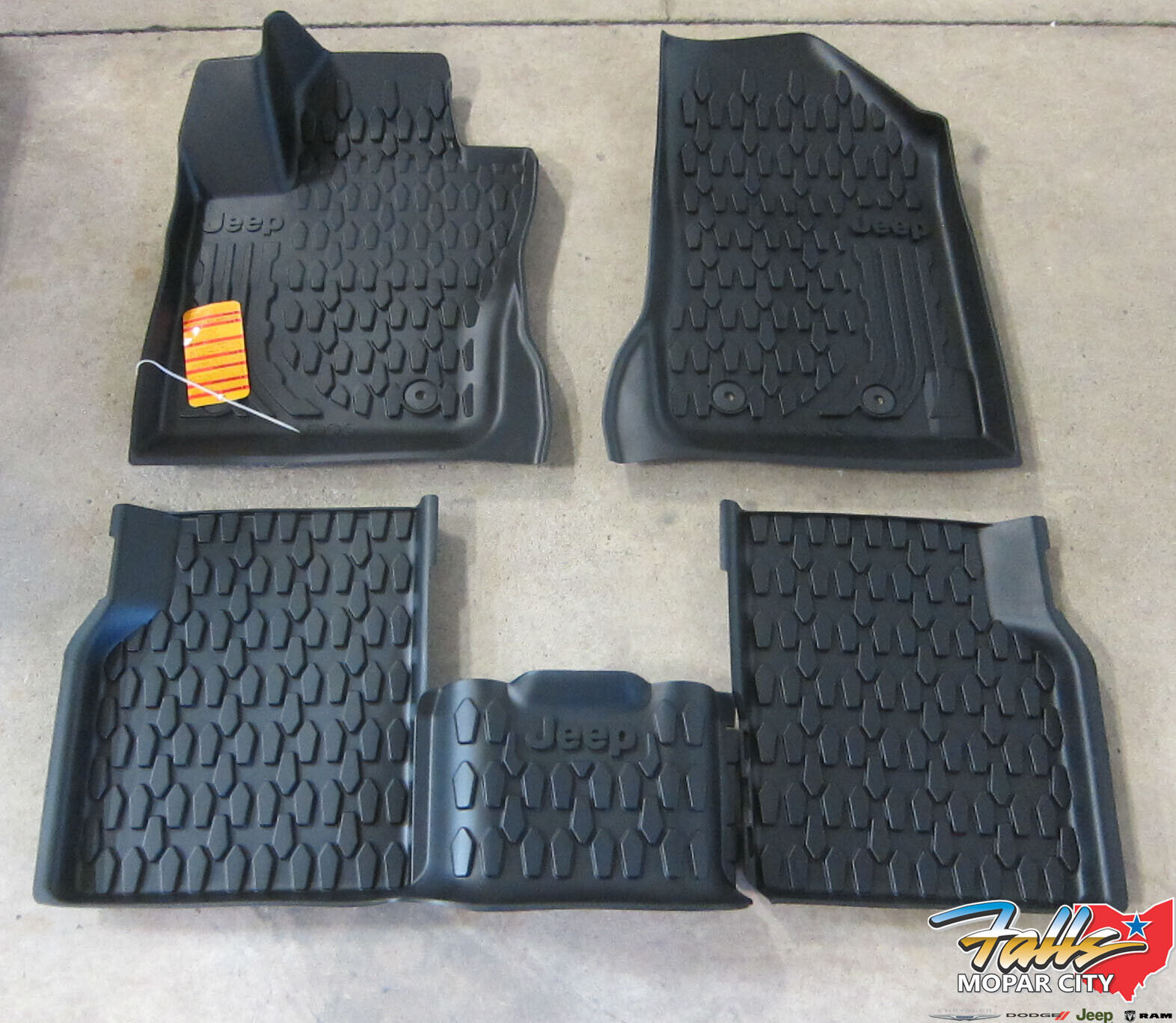 2018 Jeep Compass Black with Red Edging Driver Passenger /& Rear Floor GGBAILEY D60188-S1A-BLK/_BR Custom Fit Car Mats for 2017