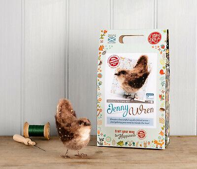 British Birds Jenny Wren Needle Felting Kit by The Crafty Kit Company