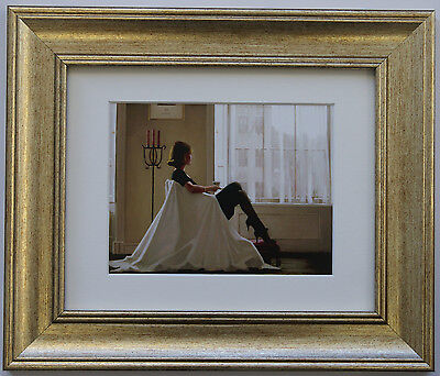 In Thoughts Of You by Jack Vettriano Framed & Mounted Art Print Gold