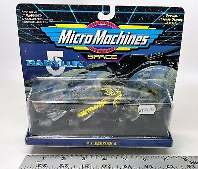 Galoob - Micro Machines Space - Babylon 5 #1 Set - Space Station, Vorlon, Green