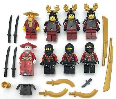 Lego 8 New Samurai Krieger Ninja Minifigs Ninjago Figuren und Waffen (Lego Krieger Waffen)