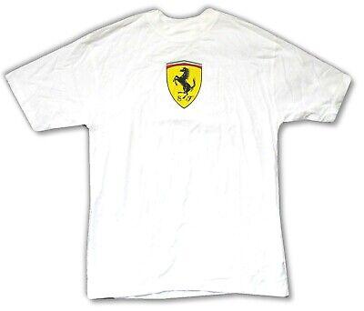 Classic Adult White T-shirt (Ferrari Chest Logo Classic SF White Adult T Shirt Brand New Official Merch)