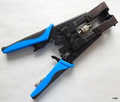 3-in-1 Compression Crimping Tool For Bnc Rca Coax Connectors Pn Tl-5082r
