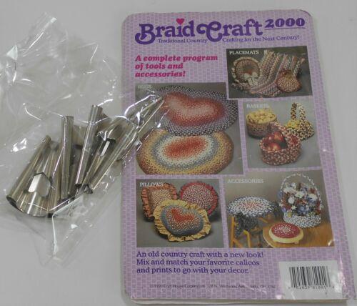 Braid Craft Rug Making Tool Set UNUSED Instruction Book & 5 Piece Metal Tool Set