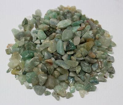 50 gram Undrilled Loose GREEN AVENTURINE Chips 5 - 15 mm Mini Semi Tumbled Stone