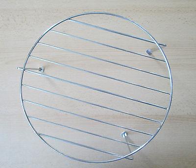 Grillrost Edelstahl für Mikrowelle mit 29,5 cm. Durchmesser und Höhe 15,5 cm