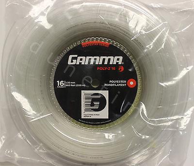 Gamma White Reels (Gamma Poly-Z 16g White 660' Reel Polyester Tennis String 1.30mm 200m NEW)