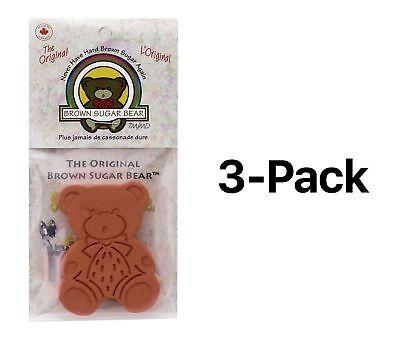 Harold Import Brown Sugar Bear Saver Keeper Cookies Sugar Reusable (3-Pack)